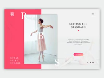 Landing Page for Royal Ballet School ballet website portfolio page lp web landing page landing