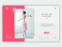 Landing Page for Royal Ballet School