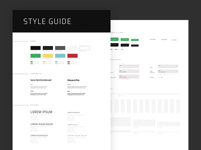 UI Style Guide interface ui style guide