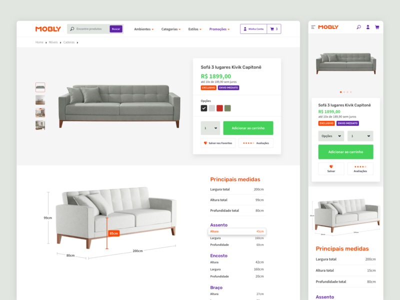 Mobly - Product Detail shop product design product detail product description furniture store e-commerce interface ui