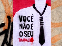 """""""You're not your job"""" - Stencil and Wheat-paste poster"""