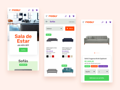 Mobly - Furniture Store - Mobile Interface web deisgn mobile furniture interface ux ui design ux store e-commerce