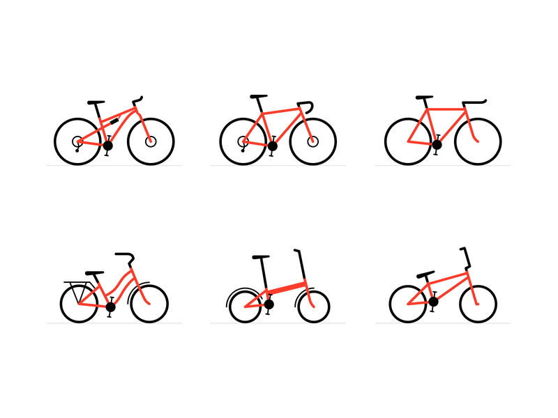 Bike Icons design vector iconography illustration bicycle bike icon