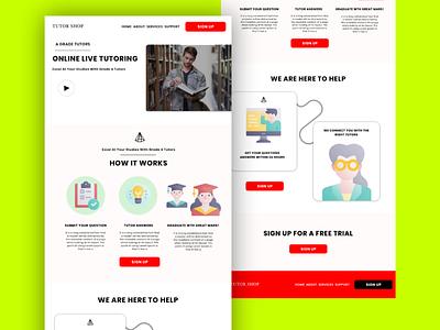 Tutor Shop ux website concept website design website web designer web design uiux ui design ui design