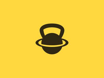Planet | Kettlebell | Logo design