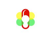 Vitamins | Pill | Flower | Butterfly | Logo design