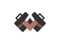 Suitcases | Letter 'M' | Logo design