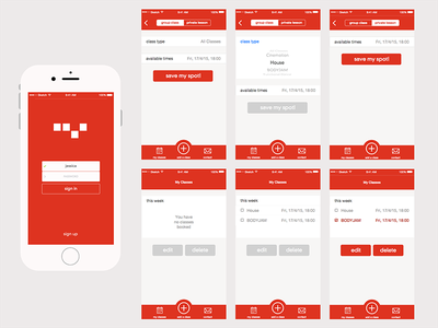 Colourbeat Mobile - Screens design ux mobile app ui