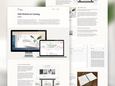 Case Study - GSD site photography branding interaction visual ui ux design