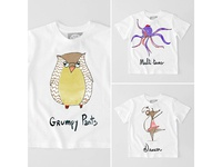 Funny animals t-shirt series