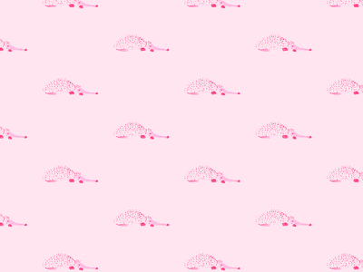 Sleepy porcupine kids stuff pink pattern pattern design illustration