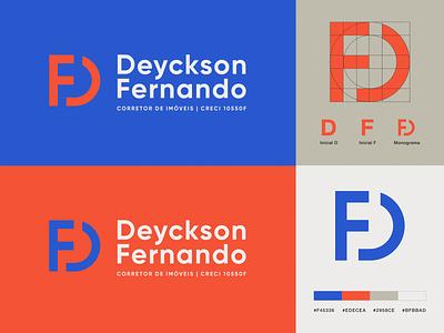 DF Logo Design Concept - Real State Agent branding graphic design logo illustration design logoplace logonew logolounge logoinspire logogrid logodesigner branding design