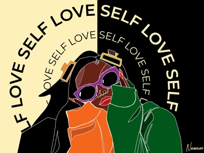 Self love self portrait design art line art artwork illustrator illustration