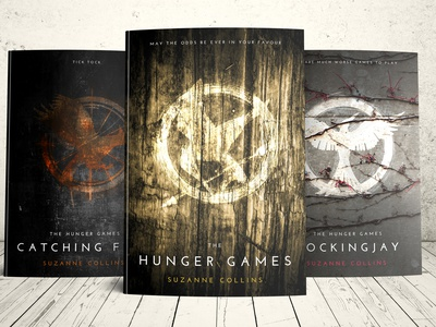 The Hunger Games Redesign the hunger games graphic design photoshop redesign book cover