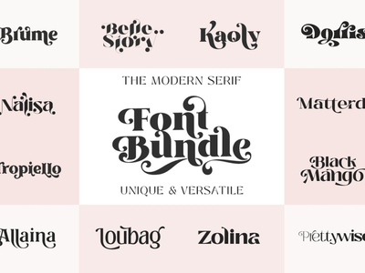 The Modern Serif Font Bundle advertising art professional sans serif fonts font resources elegant font display logo lettering design calligraphy serif font bundle serif fonts modern serif font modern serif modern serif font serif