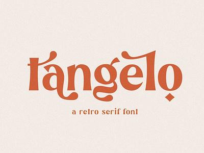 Tangelo - Retro Font logos handwritten handwriting sans serif elegant font resources display design modern calligraphy calligraphy logo lettering fonts collection modern fonts modern font retro fonts fonts font retro font modern retro