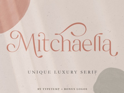 Mitchaella Luxury Unique Serif handwritten handwriting elegant calligraphy logo font resources display font text stylish simple design unique sans serif fonts sans serif font sans serif serif fonts serif font serif luxury