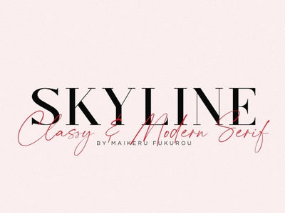 Skyline - Classy & Modern Serif fashion project calligraphy fonts handwriting logo font resources display font design modern fonts modern serif serif fonts sans serif fonts sans serif font sans serif serif font serif classy fonts classy font classy