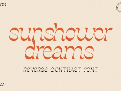 Sunshower Dreams - Exotic Font 70s lettering letters summer fonts summer font summer handwriting elegant sans serif calligraphy logo font resources display design fonts font exotic fonts dreams exotic font exotic