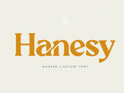 Hanesy - Modern Serif Font logo display font modern calligraphy calligraphy design retro font vintage retro stylish modern fonts sans serif fonts sans serif font sans serif serif fonts serif font serif modern serif font modern serif modern