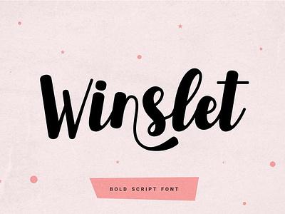 Winslet - Bold Script Font cards professional calligraphy logo font resources display bold color font design design font resoruces bold fonts bold font script fonts fonts font script font script bold script font bold script bold