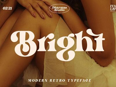 Bright - Modern Retro Typeface vintage retro modern download display typeface type design typography display typography display font display typeface font