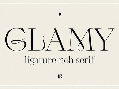 GLAMY - Ligature Rich Serif font resources display advertising branding logotype logo lettering typeface typography fonts font design sans serif font sans serif serif fonts serif font rich serif font rich serif rich ligature