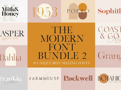 The Modern Font Bundle Vol. 2 display fonts display font stylish fonts trendy fonts chic fonts luxury fonts elegant fonts modern fonts advertising logo branding typography typeface lettering fonts font collections font resources font collection font bundle font