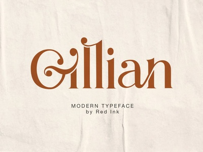 Gillian - Stylish Serif Ligature Font advertising logo branding typography typeface lettering fonts font collections font resources font collection font bundle font sans serif fonts sans serif font sans serif serif font serif ligature display font display