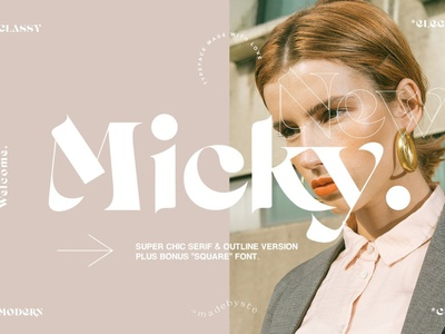 Micky - Regular + Outline & Bonus logo font logo type design typography typeface lettering font resources font design fonts font display fonts display typography display typeface display type display font display outline font regular font outline regular