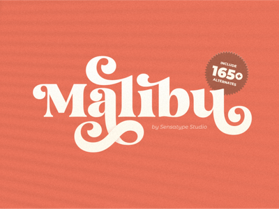 Malibu - Fancy Vintage Font display font stylish magazine fashion display advertising branding logo lettering typography typeface minimalist unique serif sansserif elegant modern classy fonts font