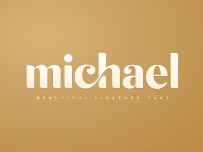 michael - Beautiful Ligature Font display font stylish magazine fashion display advertising branding logo lettering typography typeface minimalist unique serif sansserif elegant modern classy fonts font