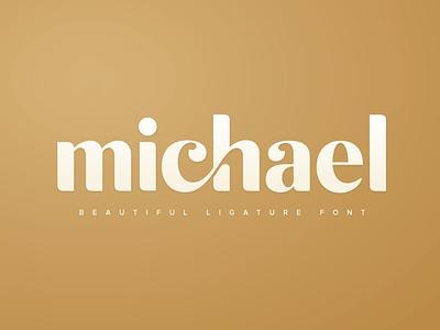 michael - Beautiful Ligature Font display font stylish magazine fashion display advertising branding logo lettering typography typeface minimalist unique serif sansserif elegant modern classy fonts font