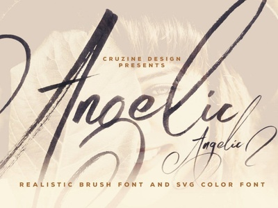 Angelic Brush & SVG Font realistic brush realistic paint font sans serif font resources design calligraphy logo lettering branding display typeface display font display fonts font brush fonts svg font svg brush font brush