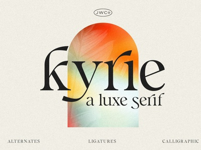 Kyrie: A Luxe Calligraphic Serif calligraphy font calligraphy 3d new font design lettering typeface typography ornaments ornaments fonts font decorative branding retro font vintage font fonts font display fonts display decorative font display font