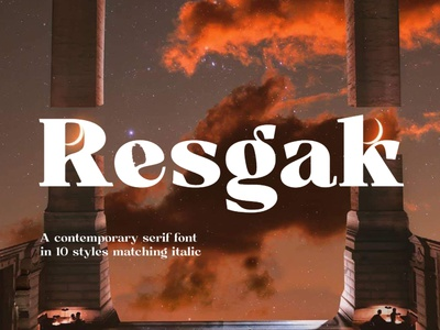 Resgak Display Font luxury display font stylish magazine fashion display advertising branding logo lettering typography typeface minimalist unique serif sans serif elegant modern classy fonts