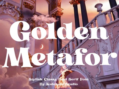 Golden Metafor Display Font luxury display font stylish magazine fashion display advertising branding logo lettering typography typeface minimalist unique serif sans serif elegant modern classy fonts