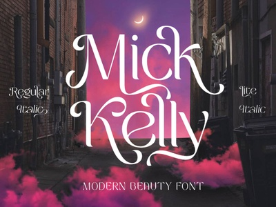 Mick Kelly - Beauty Modern Font luxury display font stylish magazine fashion display advertising branding logo lettering typography typeface minimalist unique serif sans serif elegant modern classy fonts