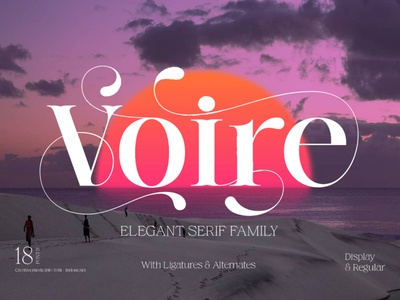 Voire - Elegant Beauty Display Font luxury display font stylish magazine fashion display advertising branding logo lettering typography typeface minimalist unique serif sans serif elegant modern classy fonts