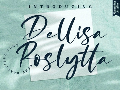 Dellisa Roslytta Display Font luxury display font stylish magazine fashion display advertising branding logo lettering typography typeface minimalist unique serif sans serif elegant modern classy fonts