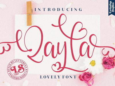 Qayla Display Font luxury display font stylish magazine fashion display advertising branding logo lettering typography typeface minimalist unique serif sans serif elegant modern classy fonts