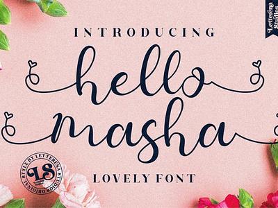Hello Masha Display Font luxury display font stylish magazine fashion display advertising branding logo lettering typography typeface minimalist unique serif sans serif elegant modern classy fonts