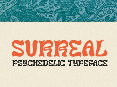 Surreal - Psychedelic Typeface luxury display font stylish magazine fashion display advertising branding logo lettering typography typeface minimalist unique serif sans serif elegant modern classy fonts