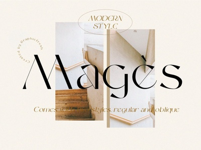 Magès - Modern Serif Typeface luxury display font stylish magazine fashion display advertising branding logo lettering typography typeface minimalist unique serif sans serif elegant modern classy fonts