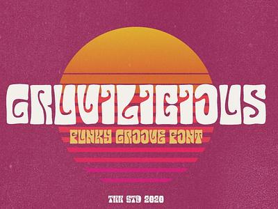 Gruvilicious - Retro Groovy Font logo lettering typography typeface minimalist unique serif sans serif elegant modern classy fonts font funky font retro design groovy font groovy retro groovy font retro font retro