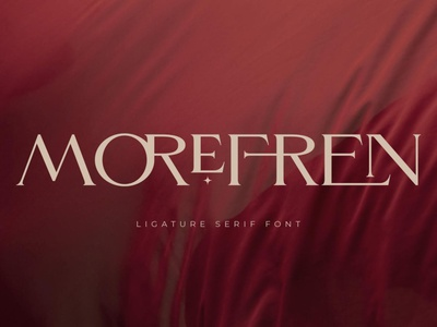Morefren - Serif Ligature Font luxury display font stylish magazine fashion display advertising branding logo lettering typography typeface minimalist unique serif sans serif elegant modern classy fonts