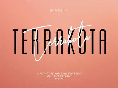 Terrakota Signature Sans Font Duo font classy modern elegant sans serif serif unique minimalist typeface typography lettering logo branding advertising display fashion magazine stylish display font luxury