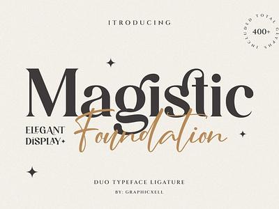 Magistic - Duo Ligature Typeface luxury stylish magazine fashion display font display advertising branding logo lettering typography typeface minimalist unique serif sans serif elegant modern classy fonts