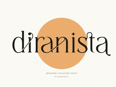 Diranista - Stylish Display Font display font stylish magazine fashion display advertising branding logo lettering typography typeface minimalist unique serif sans serif elegant modern classy fotns font