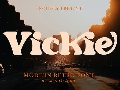 Vickie - Modern Retro Font display font stylish magazine fashion display advertising branding logo lettering typography typeface minimalist unique serif sans serif elegant modern classy fonts font